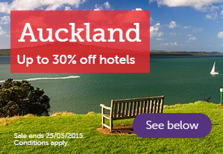 Auckland up to 30% off hotels
