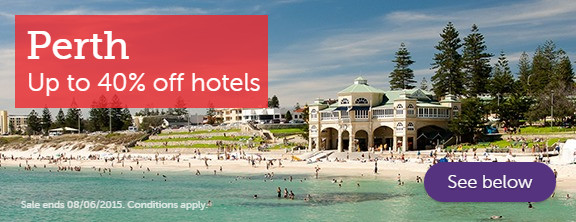 Perth hotels - up to 40% off